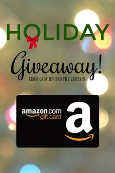 Hi Friends!  I'M SO EXCITED to share this giveaway with you!  I just entered to win a $200 AMAZON GIFT CARD.  ENTER BY CLICKING ON THE PICTURE!