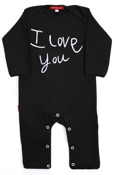 For when your little ones can't yet say it themselves.   I Love You Playsuit - 100% softest cotton interlock.