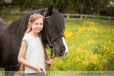 Horse portrait session, My Horse and Me. Girl and black Welsh Section D Pony
