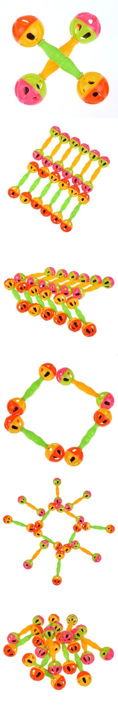 BS#S Baby Kid Toy Rattle Bells Shaking Dumbells Early Development Toys Early Childhood Educational Toys Free Shipping