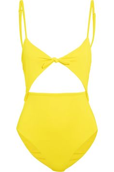 MARA HOFFMAN YELLOW ONE PIECE SWIMSUIT
