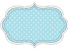 polcka dots blue Diy Gift For Bff, Text Frame, Drawing Sheet, Classroom Labels, Baby Journal, Free Printable Stickers, Pantry Labels, Borders And Frames, Party Props