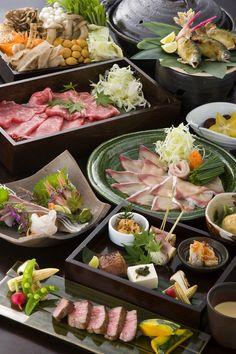 food presentation | Japanese Party Food  宴会料理コース  #japan #japanese
