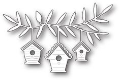 Memory Box Metal Craft Die Birdhouse Trio Set is a beauitful set of birdhouses that you can use on a card, or border for scrapbooking. Diy And Crafts, Paper Crafts, Memory Box Dies, Bird House Kits, Easy Coffee, Bird Cards, Winter Cards, Amazon Art, Bird Houses