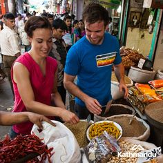 The spice market in Old Delhi is a true assault on the senses!