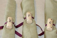 Personalized cork napkin ring