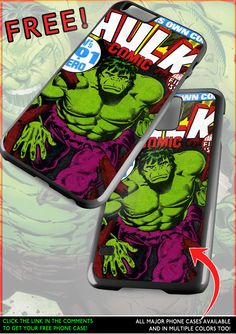 A HULK FIRST EDITION COMIC phone case now FOR FREE? Yes please!  From: http://custombodywear.com/hulk-case/