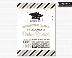 Printable Graduation Invitation Choose Your Colors by MarleyDesign