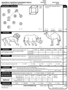 The Montreal Cognitive Assessment (MOCA) - Free Online Screener for mild cognitive impairment