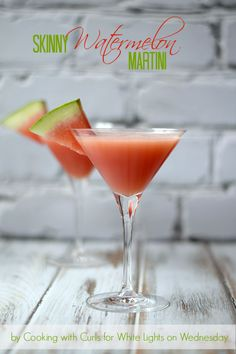 Skinny Watermelon Martini by Cooking with Curls  #celebrateeveryday #cocktails