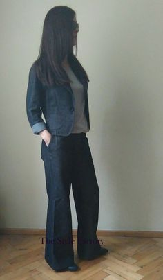 Women suit made of denim // thestylefactory.pl //