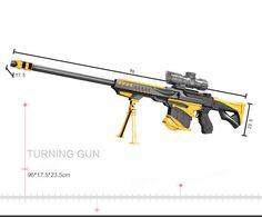 Golden Barrett Rifle Nerf Toy Gun Sniper Pistol Water Paintball With 600  Crystal - Dart Guns
