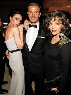 Who needs Kate Middleton to feel like they're in the presence of British royalty? Not when you've got Victoria Beckham, David Beckham and Joan Collins to chat with inside the Vanity Fair bash. More Oscar party photos: http://bit.ly/xDGT3c