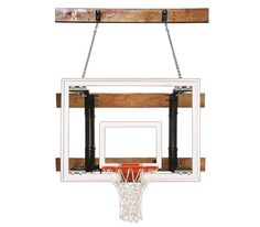 First Team Foldamount 46 Maverick Wall Mounted Basketball Hoop 54 inch Tempered Glass from NJ Swingsets
