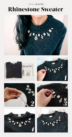 swellmayde: DIY | RHINESTONE SWEATER