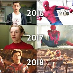 Lots of growth in a short amount of time.<<Mostly his hair Marvel Dc, Captain Marvel, Spiderman Marvel, Dc Memes, Marvel Memes, Marvel Funny, Ben Reilly, Dc Comics, Tom Holland Peter Parker