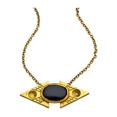 Bita Pourtavoosi Jeweled Mola Necklace  ❤ liked on Polyvore
