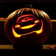 Sasaki Time: Lightning McQueen Pumpkin Carving Template