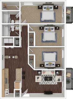 House Floor Design, Home Design Floor Plans, Home Building Design, Small House Design, Home Room Design, Plan Design, Design Ideas, Sims House Plans, House Layout Plans