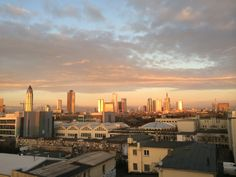 Looking out of my window at my hotal in #Frankfurt #Skyline