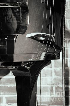 """Piano and Doublebass Jazz Photo AbstractionFrom """"Jazz Posters"""" photo prints collection."""