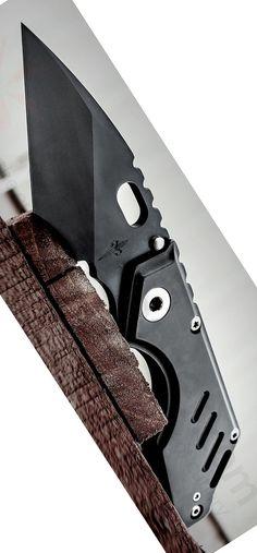 Mick Strider Marfione Custom Stub Tanto EDC Folding Knife Blade Black (3.25 Black) MSC