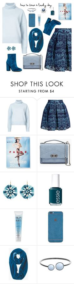 """When your head says winter but your heart says spring"" by molly2222 ❤ liked on Polyvore featuring Nili Lotan, Maje, Falke, Rebecca Minkoff, Kenneth Jay Lane, Essie, Avon, Forever 21, Chico's and Skagen"