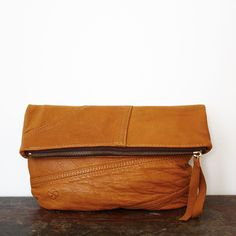 Shannon & South: hand-crafted bags from pre-loved leather. You can even send in your own leather jacket and have it remade! $130