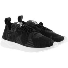 adidas Originals Sneakers - ZX Flux Adv Virtue PK W Sneaker Black - in... (£110) ❤ liked on Polyvore featuring shoes, sneakers, black, adidas originals trainers, print sneakers, adidas originals, black shoes and adidas originals sneakers