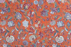 """Eiland Marken"" (oranje) - Dutch Fabric"