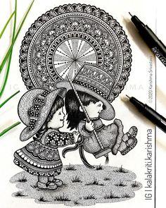 Mandala Art Therapy, Mandala Art Lesson, Mandala Artwork, Cute Doodle Art, Doodle Art Designs, Doodle Art Drawing, Zentangle Drawings, Art Drawings Beautiful, Art Drawings Sketches Simple