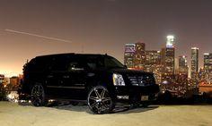 Lexani Wheels the leader in custom luxury wheels. 2012 Cadillac Escalade with chrome Johnson II wheels. Suv Trucks, Lifted Chevy Trucks, Cadillac Cts V, Cadillac Escalade, Custom Wheels, Custom Cars, My Dream Car, Dream Cars, Escalade Esv