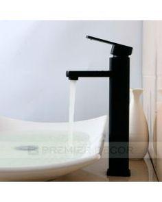 Torneira Misturador Monocomando Banheiro / Lavabo Bica Alta Absolute Preta - Premierdecor