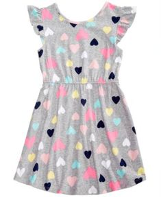 Epic Threads Little Girls Printed Flutter-Sleeve Super-Soft Dress, Created for Macy's Frocks For Girls, Little Girl Outfits, Kids Outfits Girls, Little Girl Fashion, Little Girl Dresses, Kids Fashion, Girls Dresses, Baby Dress, Flutter Sleeve