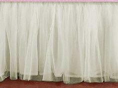 """Bedskirt Ruffle CREAM IVORY OFF-WHITE Tulle Bed Skirt Any Size - Velcro detachable option. CREAM Tulle bed skirt queen King, Cal King, Twin, Full, olympic queen, Twin XL, Daybed with any drop length. Color - CREAM Pattern -Double Layered Ruffled Lined Size - California King, King, Queen, Olympic Queen, Full, Twin, Twin XL, Twin daybed Drop Length - any from 5"""" to 40"""" Sides - 3 sided, 4 sided (select from options) Corners - Regular Corners, Split Corners Other Options - Velcro detachable..."""