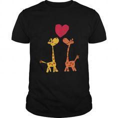 I Love Funny Giraffes in Love Tshirt T-Shirts #tee #tshirt #named tshirt #hobbie tshirts # Giraffes