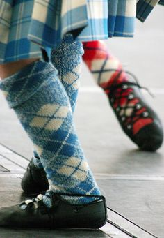 Scottish dancing shoes
