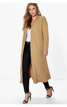 Plus Size Waterfall Duster