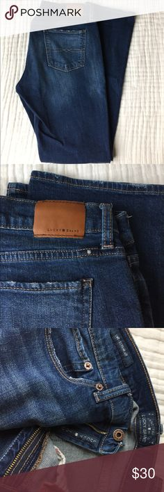Lucky Brand Sweet Straight jeans size 30 Lucky brand sweet straight jeans. Size 30. Wore and washed twice. Inseam is about 31 inches. Just a tad too big, an long for my short legs. My loss is your gain!! Any questions feel free to ask. Reasonable offers accepted. Lucky Brand Jeans Straight Leg