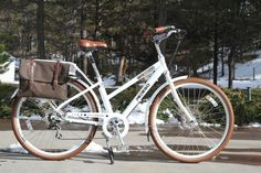 The Pedego City Commuter is offered in both a 'Step-Thru' model (shown and tested) as well a higher top-tube model.