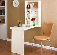 Foldout desk would be perfect for small guest room