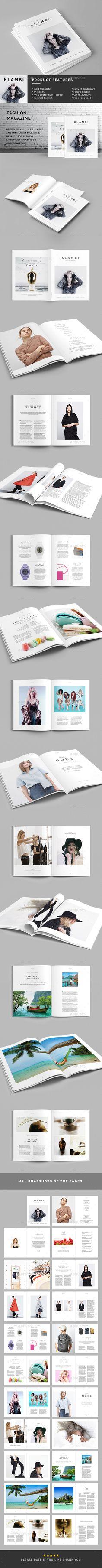 Fashion Magazine Template  Magazines Print Templates #minimal #clean