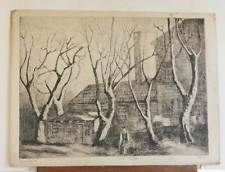 Marco ZIM Russia Artist Etching Industrial 1930s Vintage Mill Factory Worker