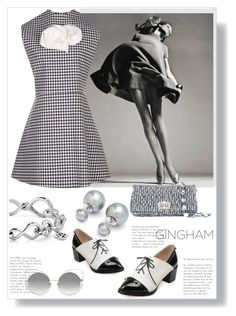 """""""Gingham"""" by ildiko-olsa ❤ liked on Polyvore featuring Miu Miu, David Yurman, Ted Baker, A.W.A.K.E., Marc Jacobs and gingham"""