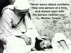Mother Teresa quote . Catholic. Catholics