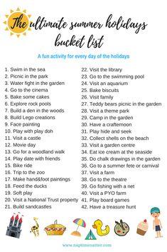The ultimate summer holidays bucket list for kids under 5 - Naptime Natter