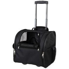 Smidig vadderad transportväska/hundvagn med hjul tillverkad i slitstark polyester. Perfekt om du vill ta med din hund eller katt på resan. Väskan har två öppningar, en på framsidan och en på sidan.