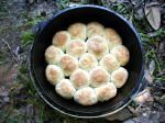 Dutch Oven Sour Dough Biscuits; we baked these in the oven at 375 degrees for about 30 minutes....they are absolutely great (Joyce and Ed)