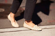 studded smoking slippers