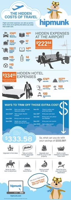 Watch out for these hidden costs when you travel  - good tips because every dollar counts!